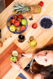 Cutting fruits Stock Photo