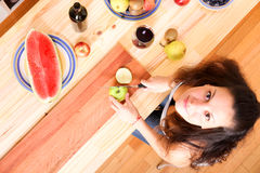 Cutting fruits Royalty Free Stock Image
