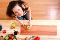 Cutting fruits Stock Photos