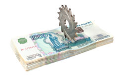 Cutting funds. concept Royalty Free Stock Photos