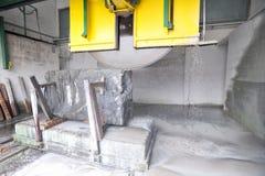 Cutting granite stone stock images