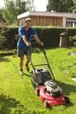 Cutting grass Stock Image