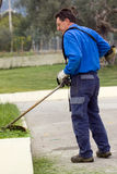 Cutting the grass Royalty Free Stock Photography