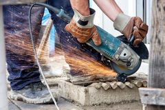 Cutting grinder Stock Image