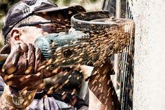 Cutting grinder Royalty Free Stock Photos