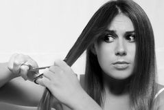 Cutting hair Royalty Free Stock Images