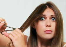 Cutting hair Royalty Free Stock Photography