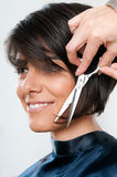 Cutting Hair Royalty Free Stock Photo