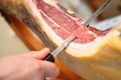 Cutting ham Royalty Free Stock Photos
