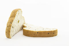 Cutting healthy bread for breakfast Royalty Free Stock Images