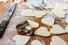 Cutting heart Stock Images
