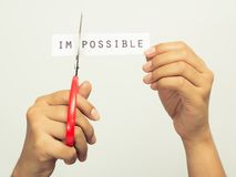 Cutting Impossible Stock Photos