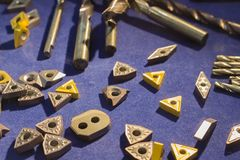 Cutting inserts for CNC machine ; stock images