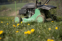 Cutting lawn Stock Photo