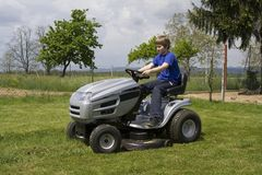 Cutting lawn Royalty Free Stock Photo