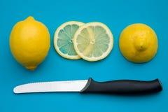 Cutting lemon Stock Images