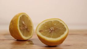 Cutting a Lemon stock video footage