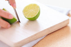 Cutting lemon Stock Photo