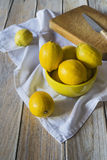 Cutting lemons Stock Photo