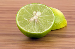 Cutting a Lime Royalty Free Stock Image