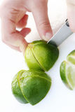 Cutting lime Stock Images