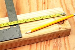 Cutting Lumber Royalty Free Stock Photography