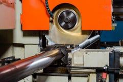 Cutting Machine. An industrial cutting machine on work royalty free stock photo