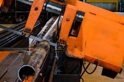 Cutting Machine. An industrial cutting machine on work stock photo