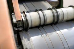 Cutting machine. Metal sheets cutting machine close up Stock Images