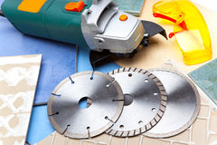 Protective points three azmazny circles for are sharp construction materials and the detachable machine Stock Image