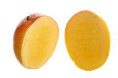cutting mango Stock Images