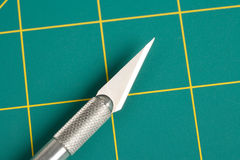 Cutting Mat and Knife Stock Images