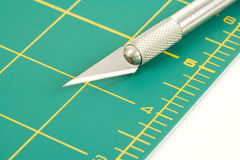Cutting Mat and Knife Stock Photos