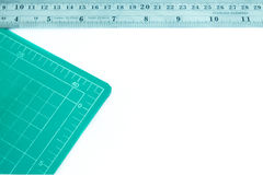 Cutting mat and ruler Stock Photos
