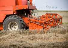 Cutting mechanism in red harvester Stock Photos