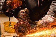 Cutting metal Royalty Free Stock Image