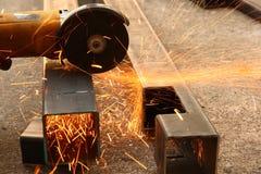 Cutting metal. Stock Photo