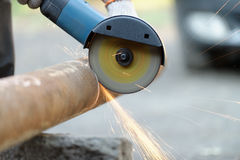 Cutting metal electric tool Royalty Free Stock Photography