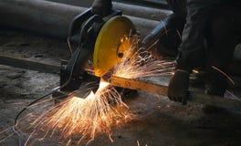 Cutting metal Royalty Free Stock Photos