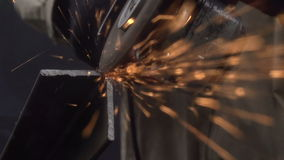 Cutting of Metal Products stock video footage
