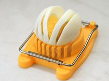 Cutting Of Boiled Egg Royalty Free Stock Image