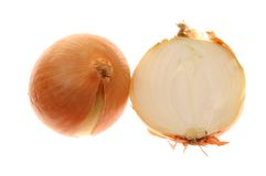Cutting onion Royalty Free Stock Photography