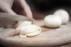 Cutting onions Royalty Free Stock Photos