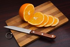 Cutting of orange Stock Photos