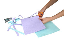 Cutting paper Stock Photography