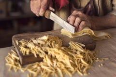 Cutting pasta Stock Image