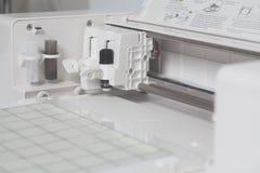 Cutting plotter flatbed machine stock image