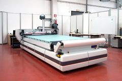 Flatbed cutter/router cutting plotter royalty free stock images