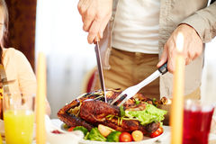 Cutting poultry Stock Photo