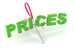 Cutting Prices Stock Photography